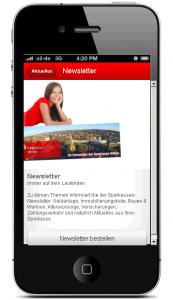 Bild der neuen Sparkassen Banking App