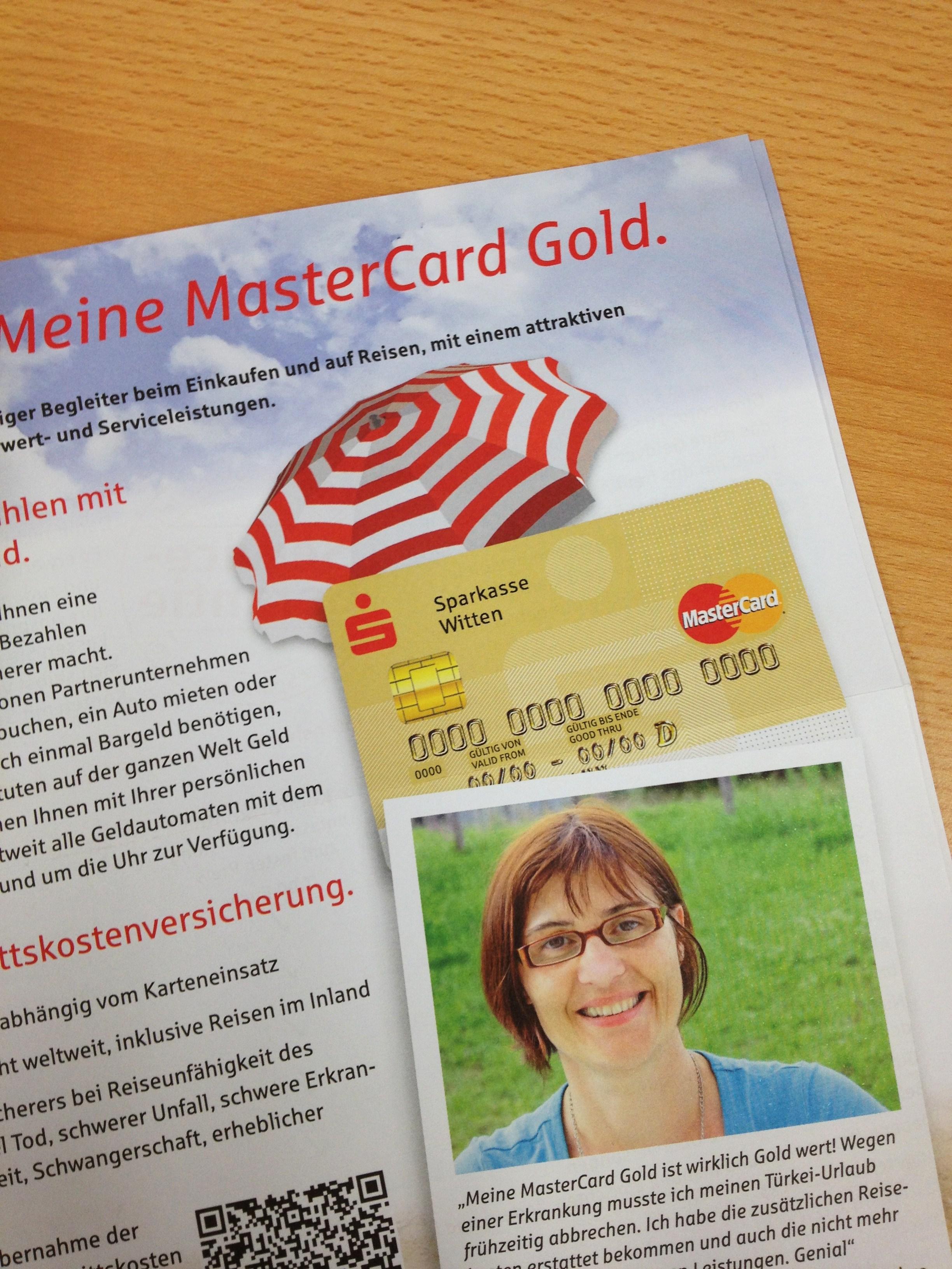 Kreditkarte MasterCard Gold