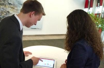 Sparkassen App auf dem iPad